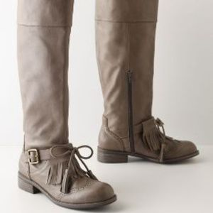 ANTHROPOLOGIE Kiltie Boots by Lucky Penney 7B